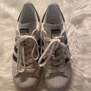Adidas SUPERSTAR Snakeskin Tennis Shoes
